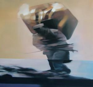"Sherpa, Öl auf Leinwand, 120cm x 120cm<span class=""en""> | sherpa, oil on canvas, 120cm x 120cm</span>"