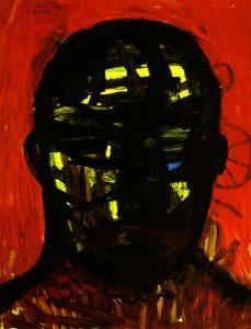 """Kopf"", 2006, Acryl auf Papier, 80 cm x 60 cm<span class=""en""> | ""Head"", 2006,  Acryl on paper, 80 cm x 60  cm</span>"