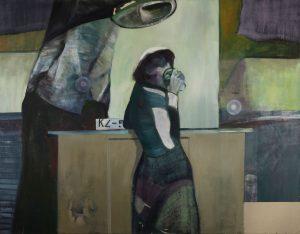 """Am Tresen"", 2006, Öl auf Leinwand, 145 cm x 175 cm<span class=""en""> | ""At the Counter"", 2006,  oil on canvas, 145 cm x 175 cm</span>"