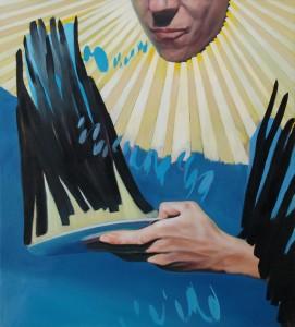 "Geste, Öl auf Leinwand, 110cm x 100cm<span class=""en""> | gesture, oil on canvas, 110cm x 100cm</span>"