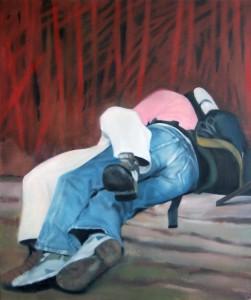 "Im Wald, Öl auf Leinwand, 120cm x 100cm<span class=""en""> | in the wood, oil on canvas, 120cm x 100cm</span>"