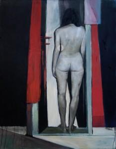 "Junge Frau, Öl auf Leinwand, 175cm x 145cm <span class=""en""> | young woman, oil on canvas,  175cm x 145cm</span>"