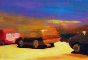 "Autos, 2016, Acryl auf Papier, 40 cm x 30 cm<span class=""en""> | cars, 2016, acryl on paper, 40 cm x 30 cm </span>"