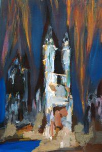 "Kirche, 2016, Acryl auf Papier, 30 cm x 40 cm<span class=""en""> | church, 2016, acryl on paper, 30 cm x 40 cm </span>"