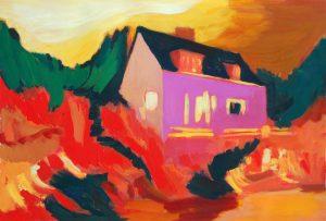 "Starkes Haus, 2016, Acryl auf Papier, 40 cm x 30 cm<span class=""en""> | strong house, 2016, acryl on paper, 40 cm x 30 cm </span>"