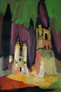 "Turm, 2016, Acryl auf Papier, 30 cm x 40 cm<span class=""en""> | tower, 2016, acryl on paper, 30 cm x 40 cm </span>"