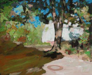 "Weißes Haus, 2016, Acryl auf Papier, 40 cm x 30 cm<span class=""en""> | white house, 2016, acryl on paper, 40 cm x 30 cm </span>"