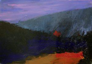 """Dritte Nacht auf dem Land"" 2017 Acryl auf Papier 30 cm x 40 cm<span class=""en""> | ""third night above the countryside"" 2017 acryl on paper 30 cm x 40 cm</span>"