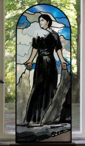 """Hingabe"", Apsisfenster, 2018, 141 cm x 54 cm<span class=""en""> | ""Dedication"", apse window, 2018, 141 cm x 54 cm</span>"